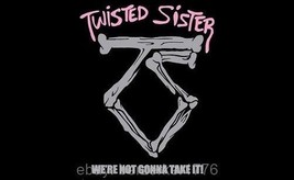 Twisted Sister We're Not Gonna Take It 3'x5' horizontal flag USA seller ... - $25.00