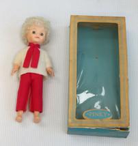 Vintage 1960s Vinyl Doll in Box Kaysam F&B Girl Scout Face Pinky Platinu... - $21.78