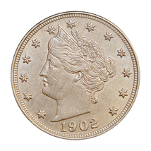 1902 Liberty Head V Nickel - Gem BU / MS / UNC - $87.45