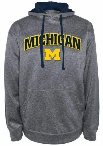 Michigan Wolverines Hoodie Men's Dominate 1 Hooded Performance Sweatshirt NEW