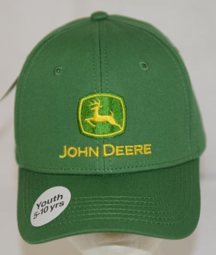 John Deere LP14389 Youth 5 To 10 Green Brushed Twill Cap