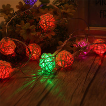 (10 LED RGB)10 LED Battery Operated Heart Shaped Christmas String Light F - $18.00