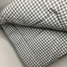 Pottery Barn Set 2 Gingham Standard Shams Gray Check Quilted Pair - $79.00