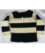 Sanctuary Alexa Swet Popover Sweater Black & Natural SIZE L (N0223) - $49.99