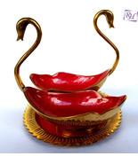 ANIQUE BRASS SWAN / DUCK BOWL PLATE VINTAGE SWAN BOWL - $61.71