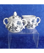 Blue Danube Cream and Sugar Set Vintage Blue Onion Pattern #99183 Chinaware - $36.95