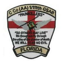 US Army C Co. AA 1-11th GSAB Florida Patch Sticker - $9.89