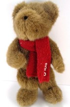"Ralph Lauren Polo Teddy Bear Stuffed Animal Plush Brown 10"" Red Scarf - $12.86"