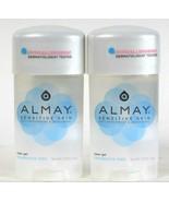 2 Almay 2.25 Oz Sensitive Skin Fragrance Free Clear Gel Antiperspirant D... - $13.99