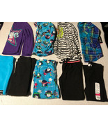 Girls XS 4/5 5 Long Sleeve Shirts & Fleece Pants Leggings PJs Mixed Lot NWT - $54.44