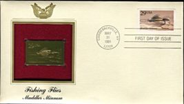 FISHING FLIES : Muddler Minnow First Day Gold Stamp Issue May. 31, 1991 - $6.50
