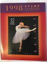 1998 USPS Commemorative Stamp Yearbook W/ Sealed MNH Stamps & Slipcover - $35.00