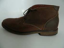 Johnston & Murphy Copel and Chuck Mens Brown Leather Crepe Sole Shoes Si... - $36.99