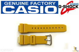 CASIO DW-5600CS-9 G-Shock Original 16mm Mustard(Glossy) Rubber Watch Band Strap - $47.45