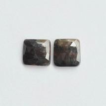 Natural Multi Sapphire Gemstone Natural Pair Set Faceted Cut Checkar Cut... - $8.90