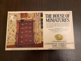 NEW Open Box House Of Miniatures Chippendale Chest On Chest Kit 1:1 Scale - $14.95