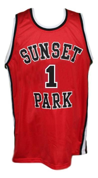 Fredo Starr Shorty #1 Sunset Park Movie Basketball Jersey New Sewn Red Any Size