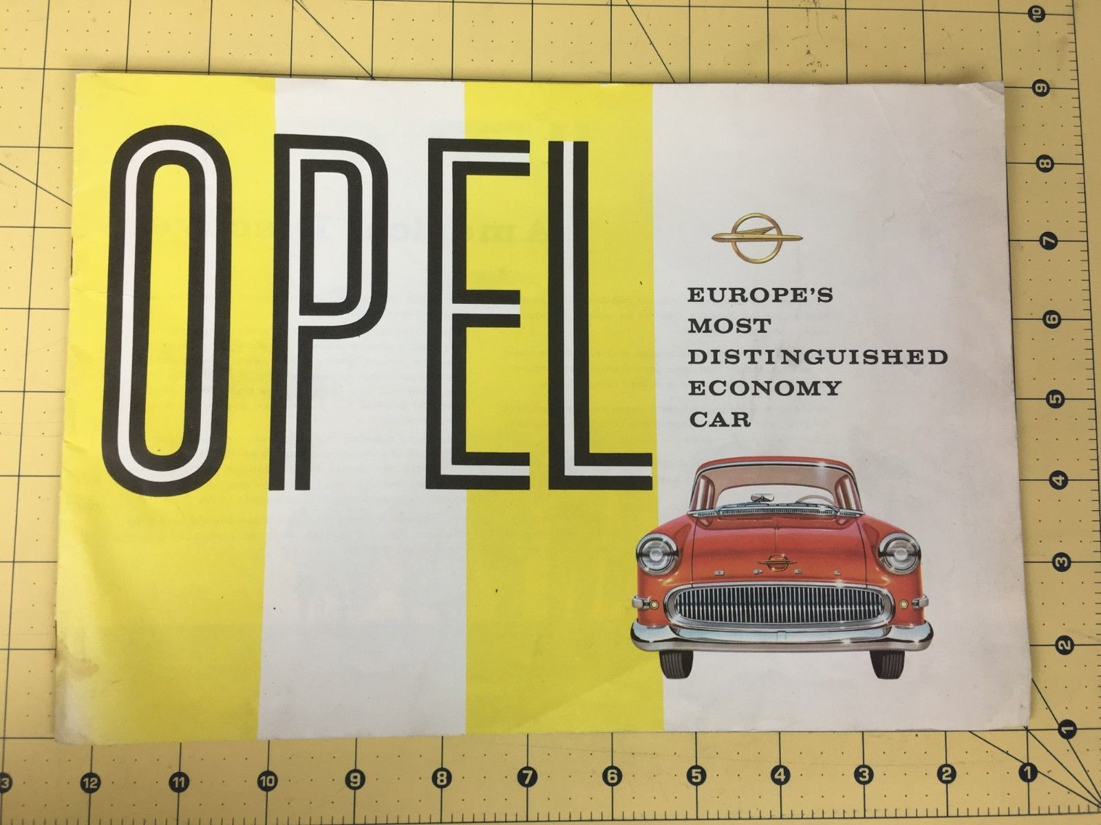 Primary image for 1957 Opel Brochure Rekord Caravan Europe's Most Distinguished Economy Car