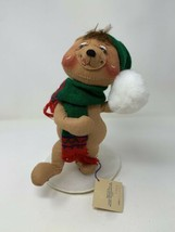 "Annalee 1990 Brown Bear Snowball #8052 Collectible 10"" Doll Xmas Christmas - $24.74"
