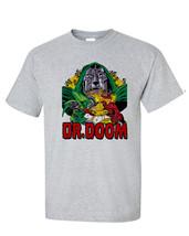 Dr. Doom T-shirt II vintage retro Bronze Age comics heather grey superhero tee image 1