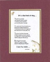 Poems for Fathers Touching and Heartfelt (From Daughter) - It's a Dad Kind of Th - $15.79