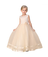 Cute Cream Color Tulle Gown for Girls - $52.99+