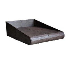 Outdoor Poly Rattan Sunbed Garden Patio Sun Lounger Pool Seat Seater Bed... - $471.08