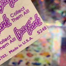 ⚡️SALE  S248 Lisa Frank Sticker Sheet COMPLETE Music Notes Neon Rainbow STARS image 3