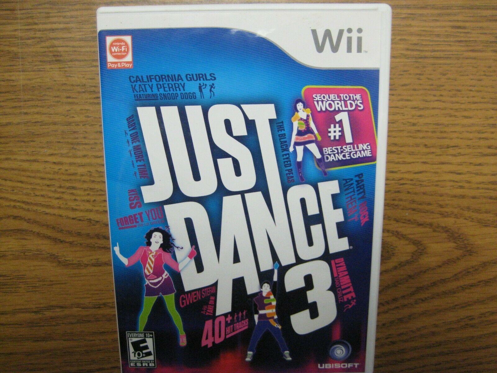 Just Dance 3 JD3 Nintendo Wii Ubisoft Dance Exercise Game - $12.75