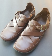 Timberland Womens Smart Comfort System Leather Loafers Buckles Brown Cut... - $37.05