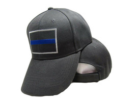 Gray Police Thin Blue Line Cap Low Profile Hat Baseball Support Law Enforcement - $19.88