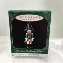 1999 Clothespin Soldier 5 Mini Hallmark Christmas Tree Ornament MIB Pric... - $9.41