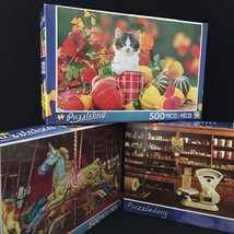 LPF Puzzlebug Puzzle 500 pc Hobby Family Fun Mixed Lot of 3 Factory Seal... - $24.95