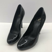 Brian Atwood Maniac Black Patent Leather Round Toe Platform Pumps Size 9 - $74.44