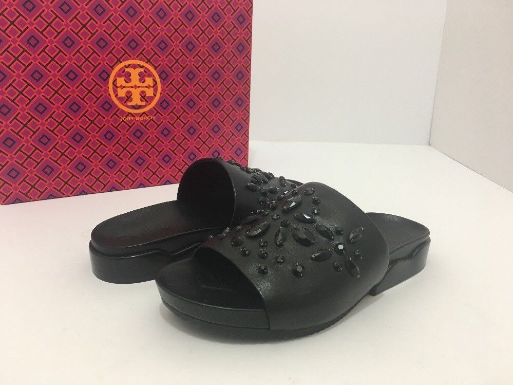 141972932 Tory Burch Brae Slide Black Leather Women s and 50 similar items. S l1600