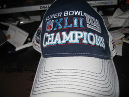 NY GIANTS XLII SUPER BOWL CHAMPIONS HAT EMBRIODED! RARE! - $9.99