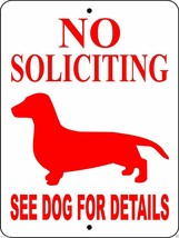 5004 DACHSHUND DOG SIGN VINYL OUTDOOR INDOOR 9 X 12 - $14.49