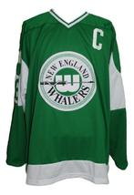 Custom Name # New England Whalers Retro Hockey Jersey New Green #6 Any Size image 4
