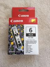 Canon BCI-6BK GENUINE BLACK INK CARTRIDGE, NEW IN BOX - $5.00