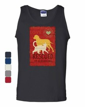 Rescued my Best Friends Tank Top Animal Shelter Dog Cat Lovers Sleeveless - $9.49+
