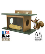 SQUIRREL HOUSE FEEDER See-Thru Wall Tree Post Mount Recycled Poly AMISH ... - $63.69+
