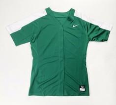 Nike Pro Vapor Softball Practice Jersey Full Button Women's Medium Green... - $29.69