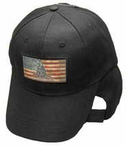 USA Gadsden Don't Tread On Me Tea Stained Patch Black Embroidered Cap - $21.77