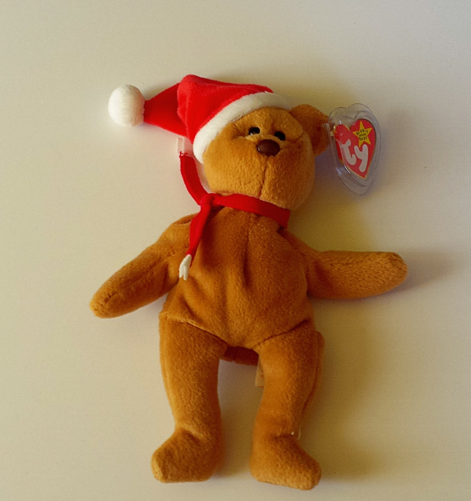 Ty Beanie Baby 1997 Holiday Teddy Bear 4200 Plush Pvc Pellets MWMT Retired Xmas