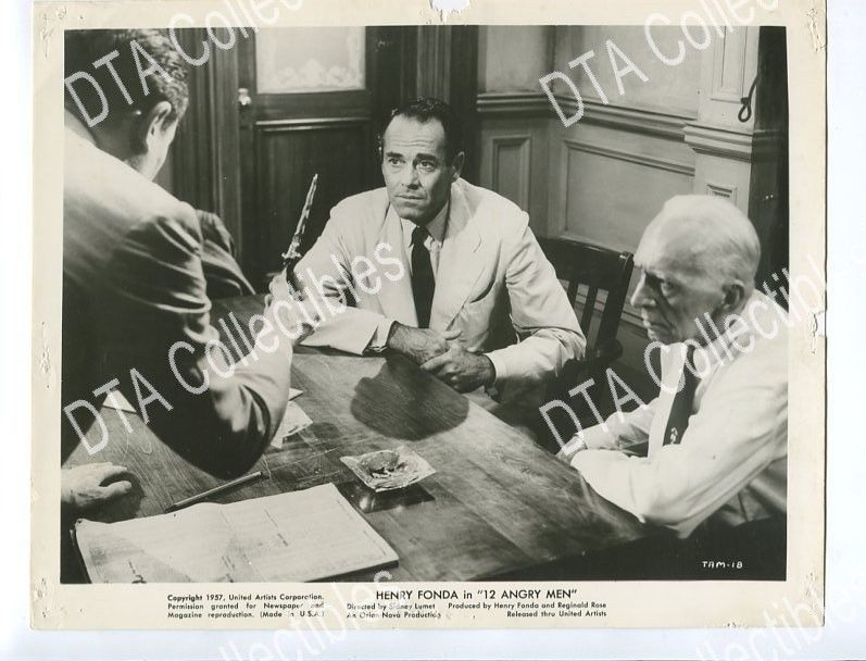 12 ANGRY MEN-8x10 PROMOTIONAL STILL-HENRY FONDA FN