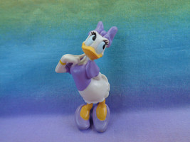 Disney Daisy Duck Lavender Outfit PVC Figure or Cake Topper - as is - $2.48