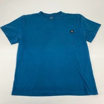 Dickies T Shirt Men's Large Short Sleeve Teal Crew Neck Chest Pocket Cotton - $17.99
