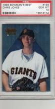 1999 Bowman's Best Chris Jones #199 PSA 10 P609 - $9.75