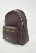 NWT! Coach F38288 Pebble Leather Full Size Charlie Backpack in Oxblood $395 - $249.00