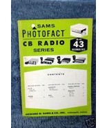 Sams Photofact CB Radio CB-43 December 1972 - $5.00